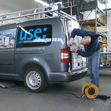 Beschriftung von Autos bei UTSCH Werbetechnik in Siegen