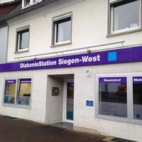 Fassadenwerbung für die DiakonieStation Siegen-West
