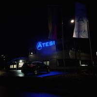 3D-LED Buchstaben bei Nacht
