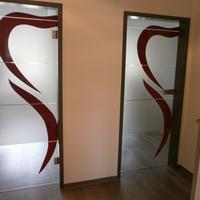 Digital bedruckte Glasdekorfolie