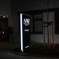 Nachtwirkung des AMZ-Pylons